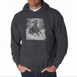 Men's Horse Hoodie Sweatshirt - HORSE BREEDS